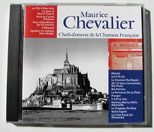 MAURICE CHEVALIER . Chefs-D'Oeuvre De La Chanson Française  . CD CF012