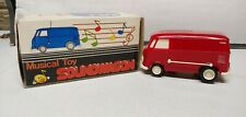 NIB W231 1970's Musical Toy Red SOUNDWAGON VW Bus Record Player w/Box & Papers