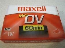 MAXELL Mini DV 60 Minutes New Sealed Digital Video Blank Cassettes Tape