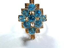 Vintage stunning Topaz cluster ring 14K Rose Gold Size 6.75
