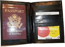 New Lamb skin USA Leather passport case wallet credit ATM card case ID holder BN