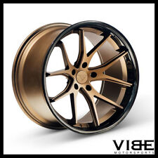 "19"" FERRADA FR2 BRONZE CONCAVE WHEELS RIMS FITS FORD MUSTANG"