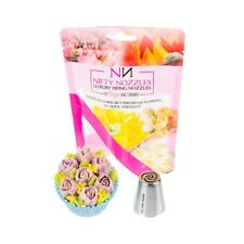 Nifty Nozzles - L - 14 - 7 Petal Rose - Genuine Russian Piping Tip - 1 Nozzle