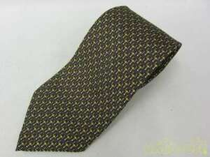 GUCCI Tie Silk Total Pattern Black for Women Made in Italy from Japan Used