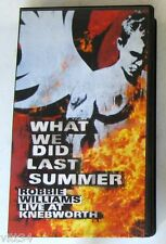 ROBBIE WILLIAMS - WHAT WE DID LAST SUMMER LIVE AT KNEBWORTH - VHS Nuova Unplayed