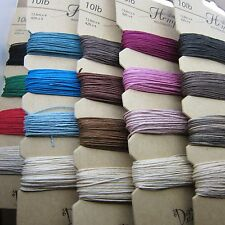 "10 Packages 20 Colors 100% Natural Pure Hemp Brand: Dazzle-it! 10lb - 168"" Each"