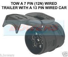 CARAVAN TOWBAR TOWING ELECTRICS ADAPTOR CONVERTER 7 PIN TRAILER TO 13 PIN CAR
