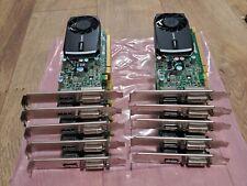 Lot of 10 Nvidia Quadro 400 512MB 642229-001 PCI-E Graphic Video Card DVI-I & DP