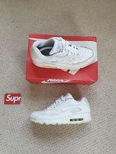 Nike Air Max 90 Triple White Leather UK 10