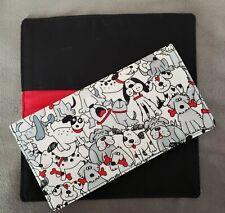 Cotton Fabric Cartoon Dogs Checkbook Cover