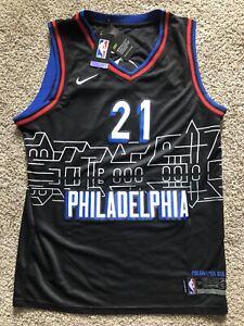 2021 Joel Embiid Jersey #21 Philadelphia 76ers City Edition Size S-2XL