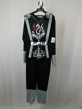 Black Dragon Ninja Boys Halloween Costume Jumpsuit - Child 8-10 Medium #7335