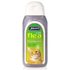 Johnsons Cat Flea Cleansing Sensitive Shampoo 125ml, 200ml Herbal Repel Natural
