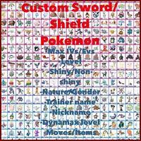 Pokemon Sword And Shield - ANY Shiny 6IV Custom Pokemon - FAST DELIVERY