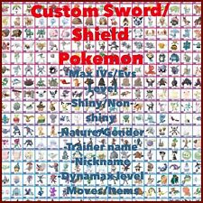 Pokemon Sword And Shield - ANY Shiny 6IV Custom Pokemon - FAST DELIVERY