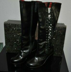 +Demonia Bravo-100 Stiefel Keilabsatz schwarz Gr. 40  US 10 Neu Ungetragen +