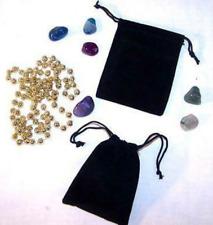24 Large 4 In Black Velvet Drawstring Storage Jewelry Bags Soft Bag Coins Rocks