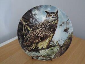 THE EUROPEAN EAGLE OWL PLATE - BOND'S OWLS - DANBURY MINT - WEDGWOOD