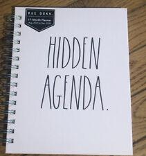 Rae Dunn 2022 Pink Hard Cover Spiral 17 Month Planner 821 1222 Hidden Agenda