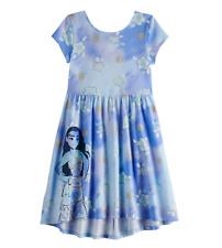 Disney's Moana Girls Blue Print Skater Dress $28 NWT Sz 5 6 6X & 7