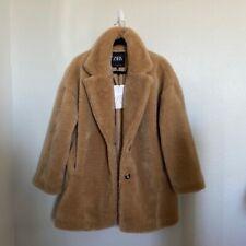 Brand New Zara Faux Fur Coat Size M $119/ Beige Teddy Fur Style Jacket