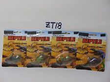 4 VINTAGE WIND-UP ACTION REPTILE LOT BTC PRODUCT RARE NOS SEALED COMPLETE SET