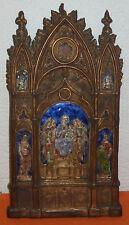 Andachtsbild Gotik Emaillemalerei Gottesmutter Jesuskind Apostel Engel Reliquie