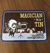 Magician In A Tin 25 Magic & Card Tricks Gift Set Retro Game Toy *New*