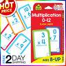 School Zone Multiplication 0-12 Flash Cards Age 8+ 3rd 4th Grade Elementary Math