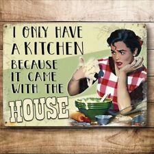 Funny Metal Kitchen Sign Vintage Retro Style Sign Plaque Gift For Mum Auntie Nan