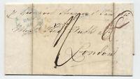 1845 Baltimore to London transatlantic stampless letter [H.568]
