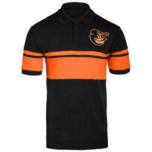 Forever Collectibles MLB Men's Baltimore Orioles Cotton Stripe Polo