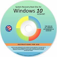 Reinstall DVD For Windows 10 All Versions 32/64 bit. Recover Restore Repair Disc