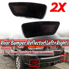 Smoked Bumper Reflector Set For Jeep Grand Cherokee 2011-2017 Rear Left + Right