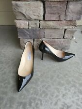 Jimmy Choo - Black Patent Leather - Pointy Toe Pumps 41 EUR
