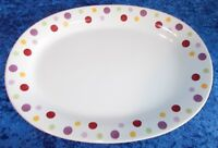 "PAMPERED CHEF SIMPLE ADDITIONS DOTS PLATTER RETIRED 10 X 13"" (246)"