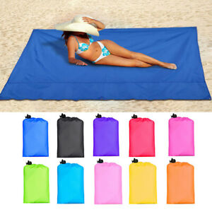 EXTRA LARGE WATERPROOF PICNIC BLANKET TRAVEL OUTDOOR BEACH CAMPING SOFT MAT HOT