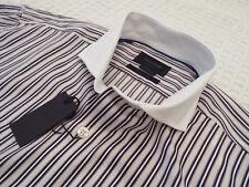 "DUCHAMP Mens Shirt 🌍 Size 16"" (CHEST 44"") 🌎 RRP £135+📮 TEXTURED STRIPES"