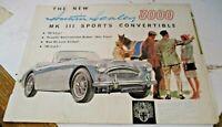 depliant pubblicitario AUSTIN HEALEY 3000  originale Inglese anni '50