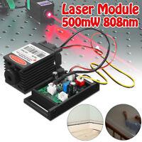 Focusable 12V 500mW 808nm Infrared Red Laser Diode Dot Module & TTL Fan Cooling