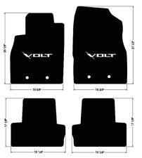 NEW! FLOOR MATS 2011-15 Chevy Volt BLACK With Embroidered VOLT Emblem Logo Set 4