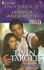 Twin Targets by Jessica Andersen (2008, Paperback, Large Type)