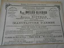 Pub 1887 - Arquebuserie Manufacture d'armes Houlier Blanchard