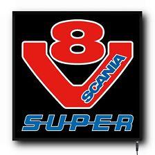 24v Cabin Interior LED Light Plate Scania V8 SUPER logo Truck Dimmer Board 50x50