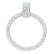 "Sterling Silver Clear Round Cubic Zirconia Eternity Pendant ,18"",SPD0072,"