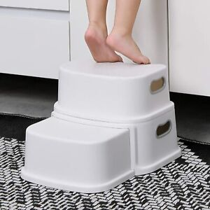 2 Step Stool for Kids, Toddler Step Stool, Kids Step Stool for Potty Training