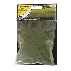 Woodland Scenics 626 | Static Grass Medium Green 12mm | Squeaky's Trains