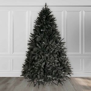 10ft Christmas Xmas Tree Black Bavarian Premium Pine Hinged 4866 Tips