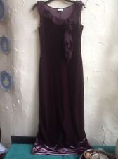 ROMAN ORIGINALS PURPLE VELVET MAXI CHRISTMAS 🎄 PARTY 🎉 DRESS👗