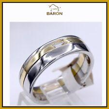 MENS DIAMOND BAND 18K YELLOW GOLD & PLATINUM BAGUETTE DIAMOND RING SIZE 10.5